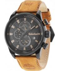 Timberland 14816JLB-02 Mens Henniker II Orange Leather Strap Watch