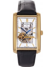 Rotary GS90521-03 Mens Les Originales Automatic Skeleton Gold Watch