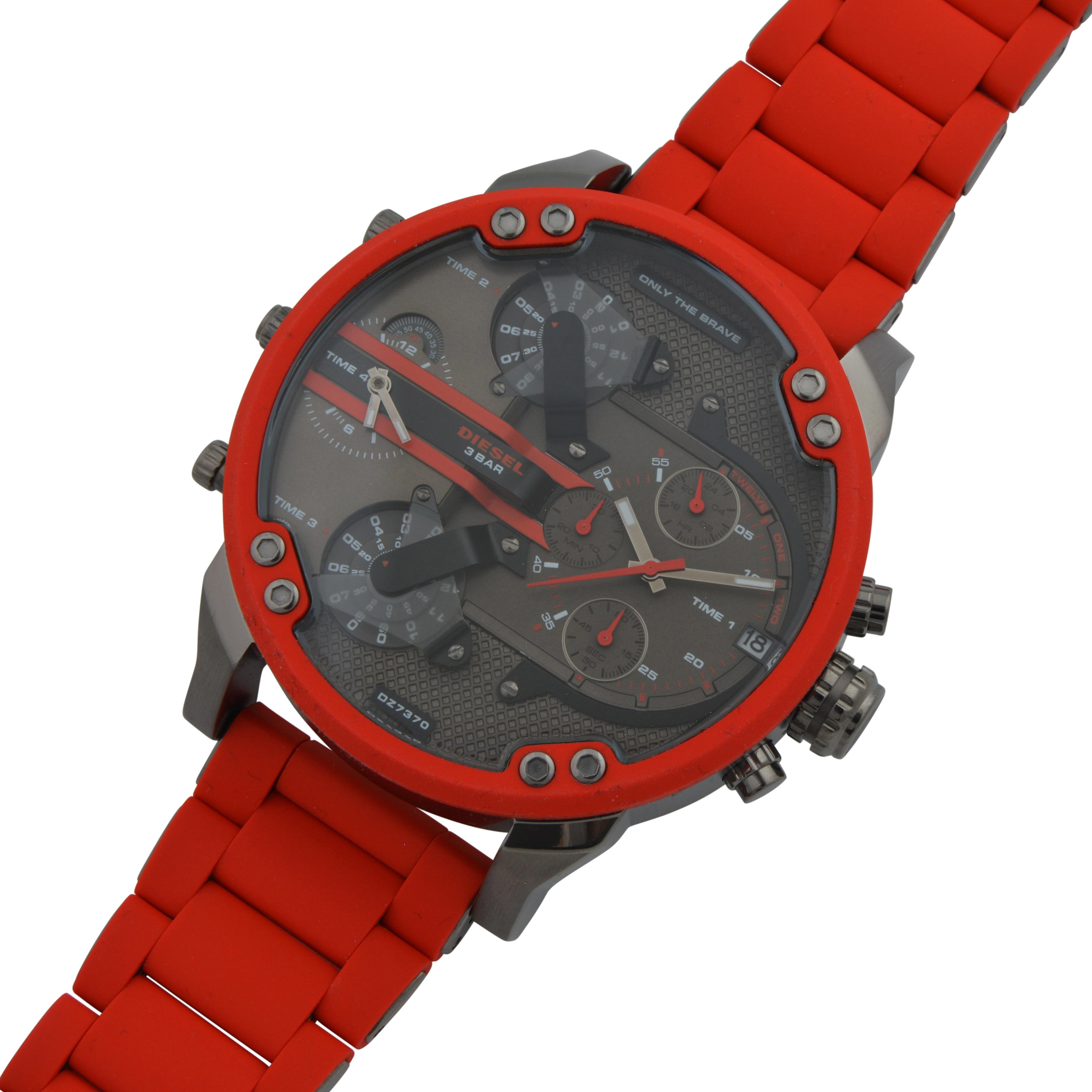 08a9307850d7 Red DZ7370 Diesel Watch