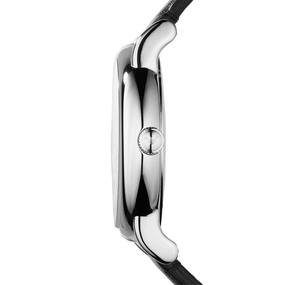 f95380f98ebd6 Black Leather AR1694 Emporio Armani Watch | Watches2U