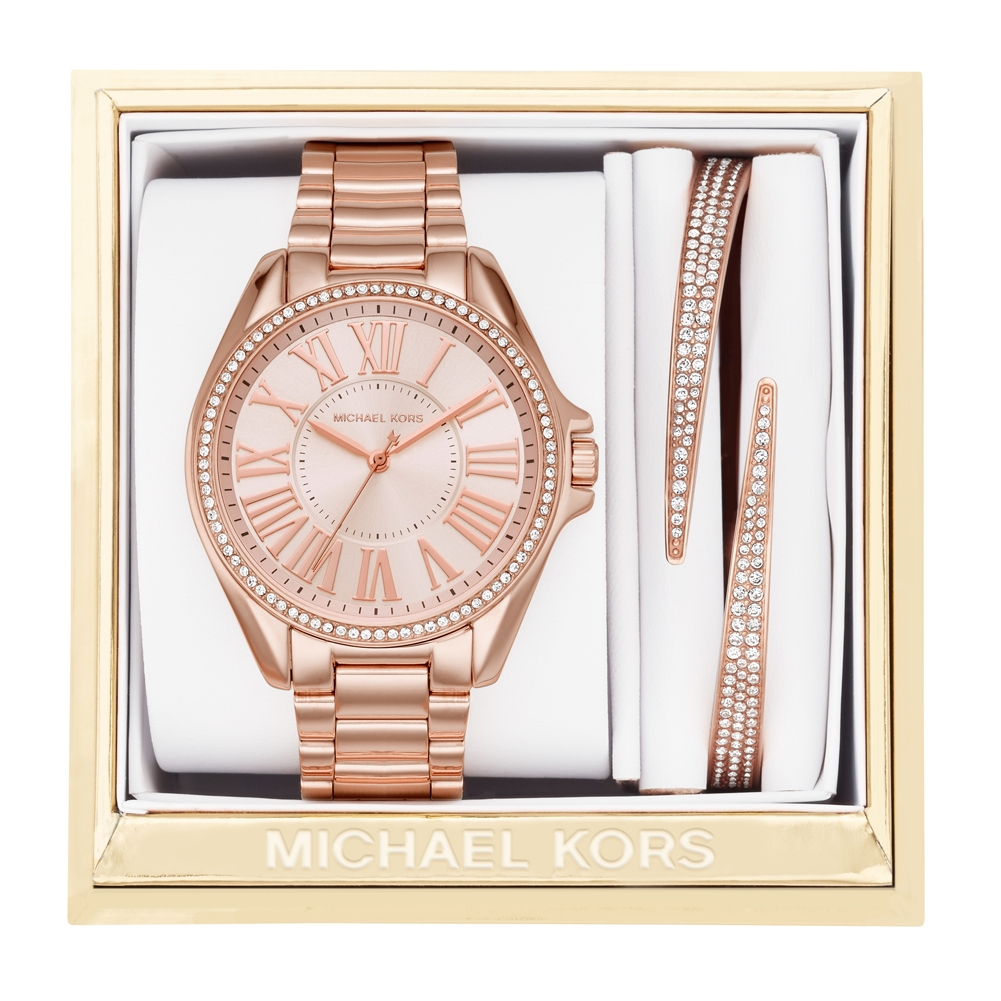 ee410754fb61 MK3569 Michael Kors Kacie Watch and Bracelet Gift Set