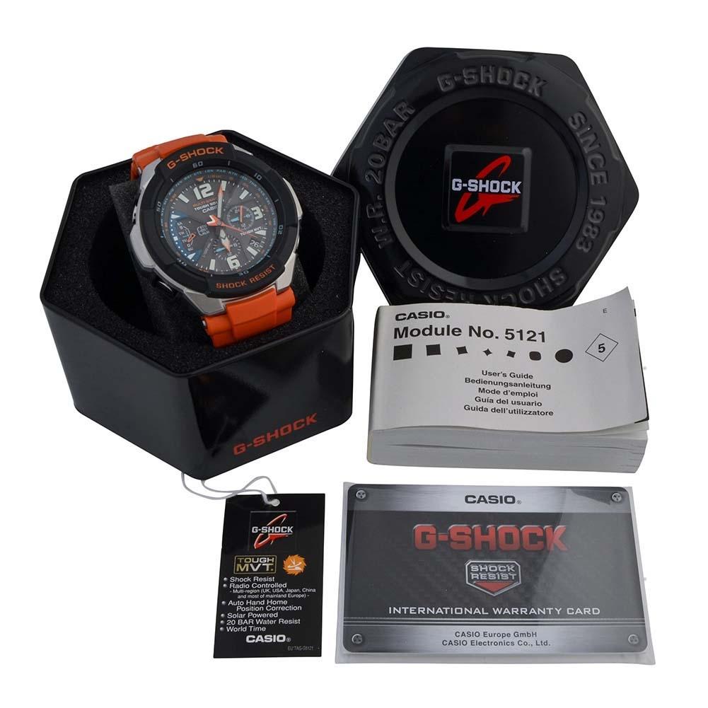 GW-3000M-4AER - Casio Mens G-Shock Radio Controlled Orange Solar Powered  Watch
