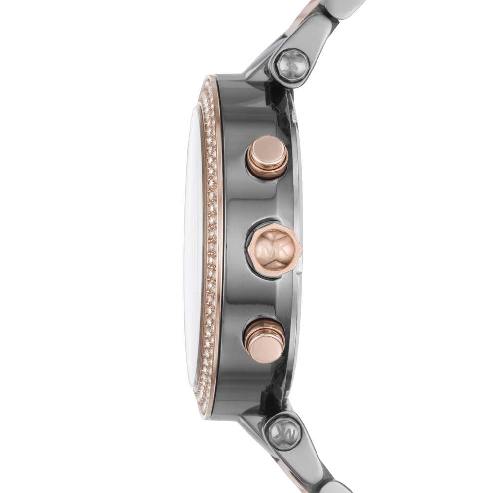 1058d68f06b8 Gunmetal Rose Gold Metal MK6440 Michael Kors Watch