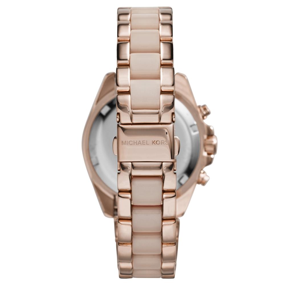 86bea6f44623 MK6066 - Michael Kors Ladies Mini Bradshaw Rose Gold Chronograph Watch