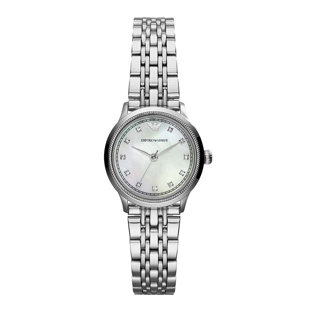 d97dfcaa33 Ladies Classic White and Silver Watch