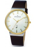 Skagen 355XLGLD Mens White Brown Watch
