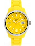 LTD Watch LTD-051001 Unisex Yellow Dial And Strap With Ss Bezel Watch
