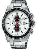 Casio EF-547D-7A1VEF Mens Edifice White Steel Black Watch