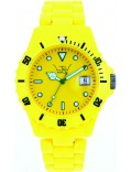 LTD Watch LTD-050123 Unisex Plastic 3 Hand Watch With Yellow Dial And Yellow Strap