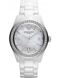 Emporio Armani AR1426 Ladies Ceramica All White Watch