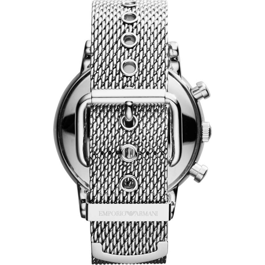 Ar1811 Emporio Armani Mens Clic Chronograph Black Silver Mesh Bracelet Watch 13ae5e68a2