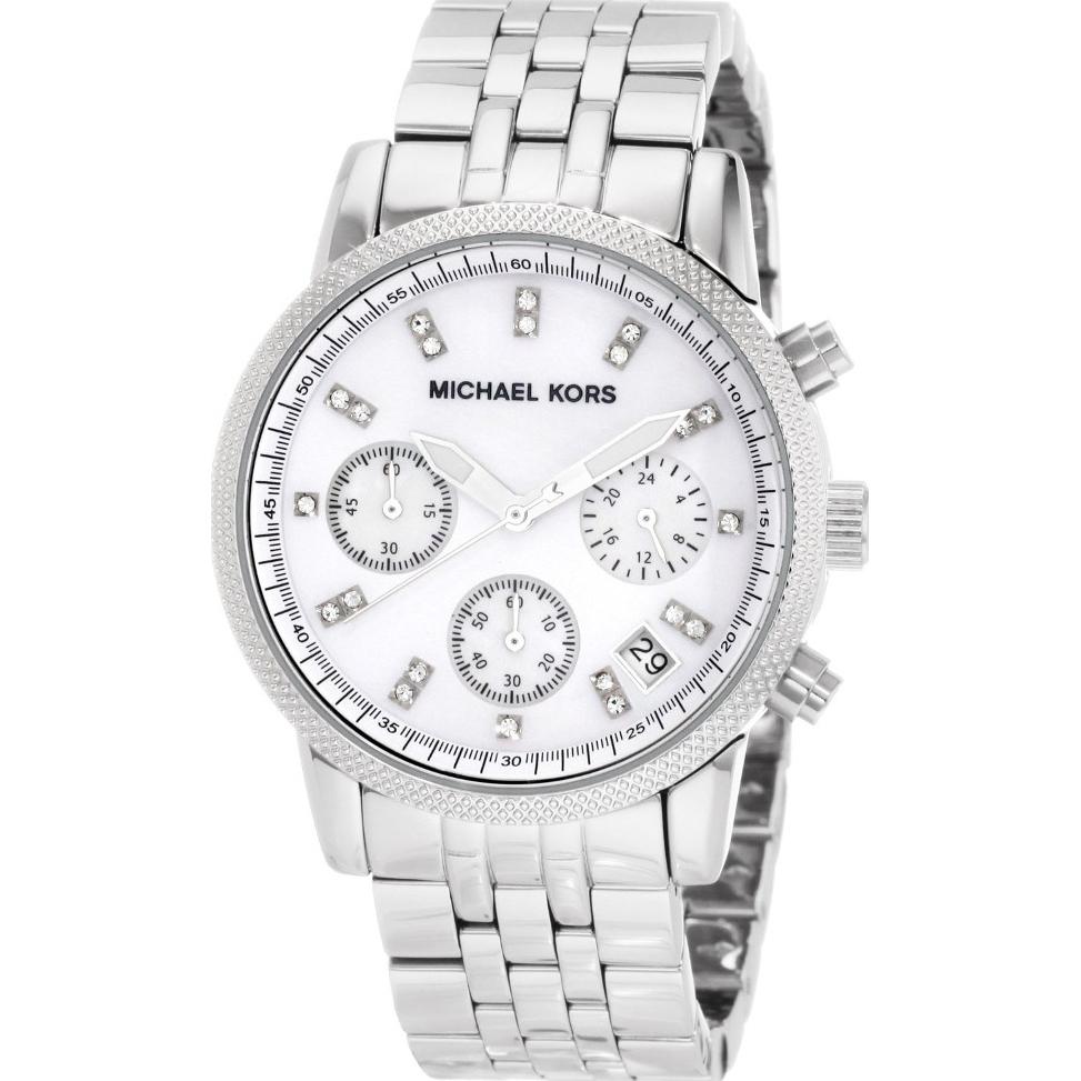 a157ecbfe2c9 MK5020 - Michael Kors Ladies Ritz Silver Steel Chronograph Watch
