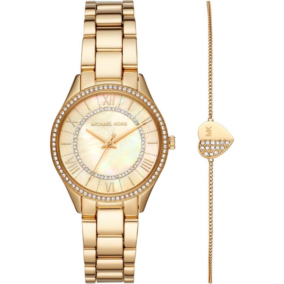 Michael Kors Ladies Lauryn Watch and Bracelet Gift Set MK4490