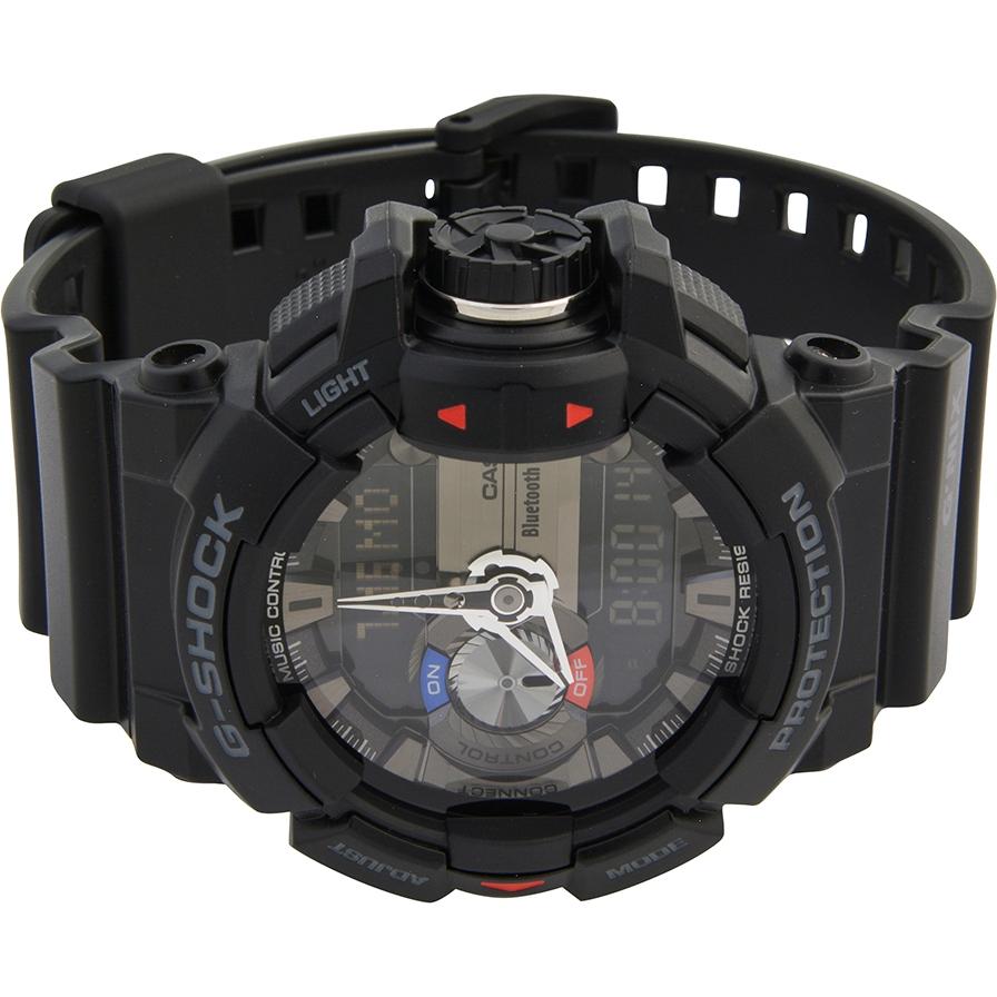 becd828ea548 GBA-400-1AER - Casio Mens G-Shock Black Bluetooth Combi Watch