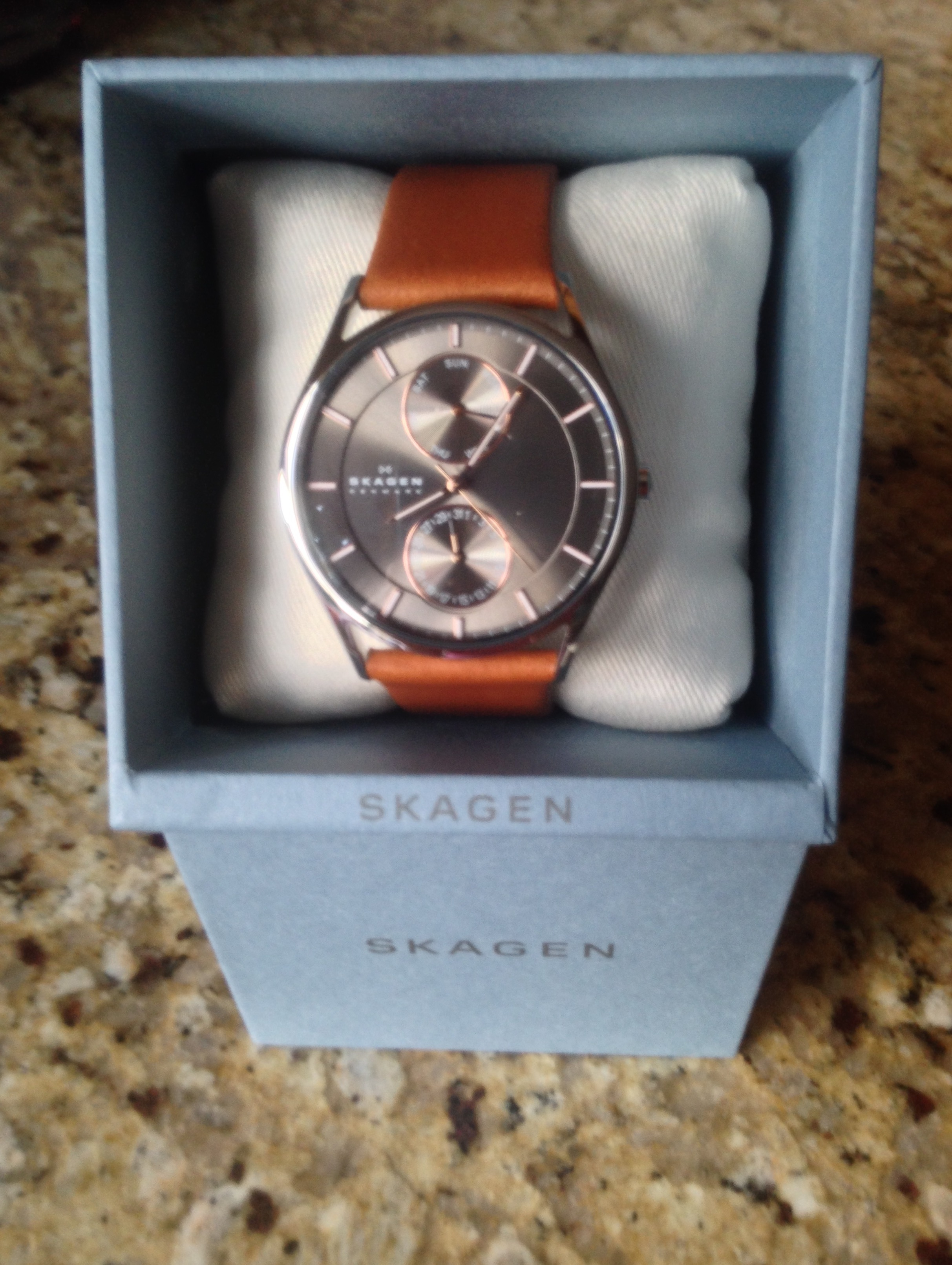 6ae98b718ff Brown Leather SKW6086 Skagen Watch