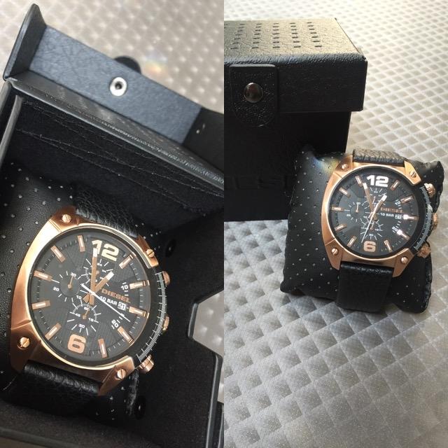 96c1a9f331ec Black Leather DZ4297 Diesel Watch