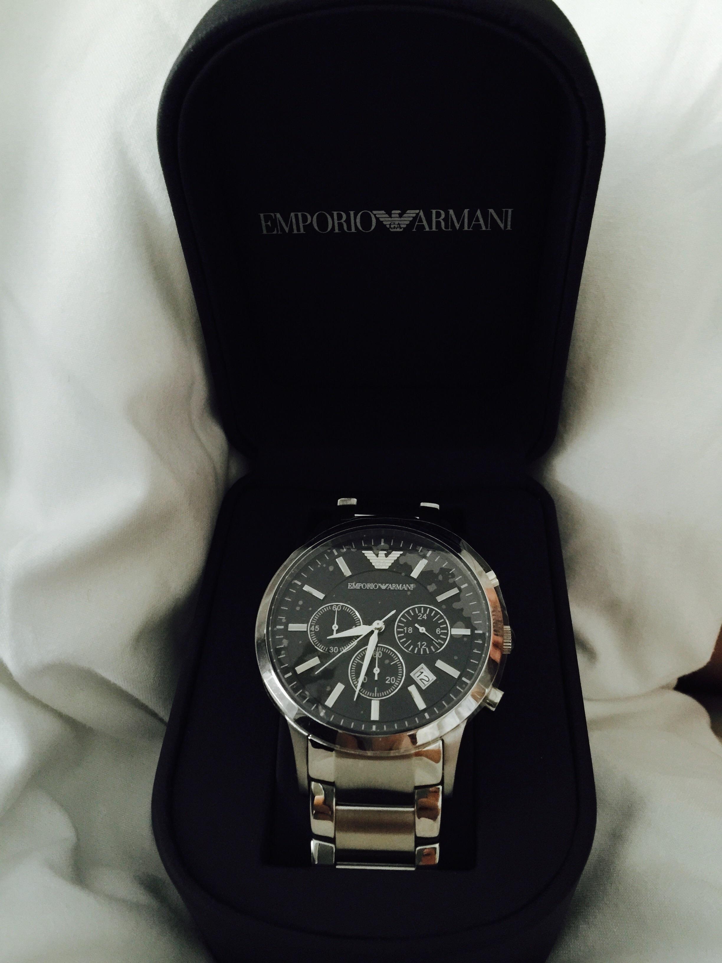 ar2434 mens emporio armani watch watches2u. Black Bedroom Furniture Sets. Home Design Ideas