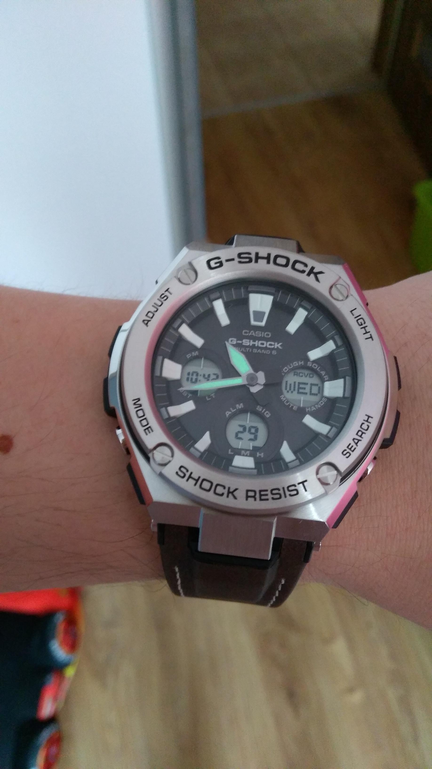 abd824a58 Zegarek rewelacyjny, ale ogromny plus za pasem, który jest jak dla mnie  najlepszy ze wszystkich G-SHOCK, które posiadam. Warto też wspomnieć o  podświetleniu ...