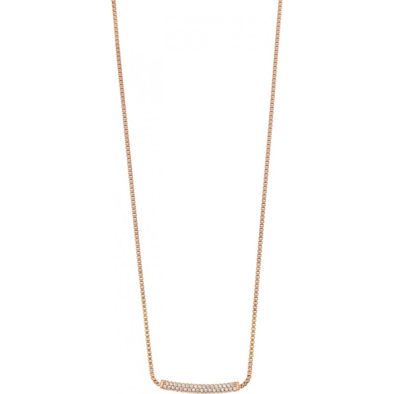 Emporio Armani EG3258221 Ladies stelle pave subiu colar banhado a ouro