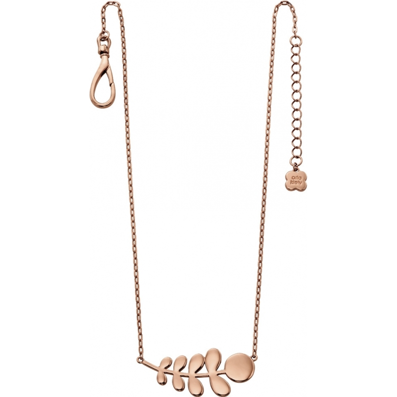 Orla Kiely N4014 Ladies Buddy 18ct Rose Gold Stem Pattern Necklace