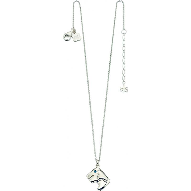 Orla Kiely N4034 Ladies Sterling Silver Elephant Necklace with Swarovski Detail