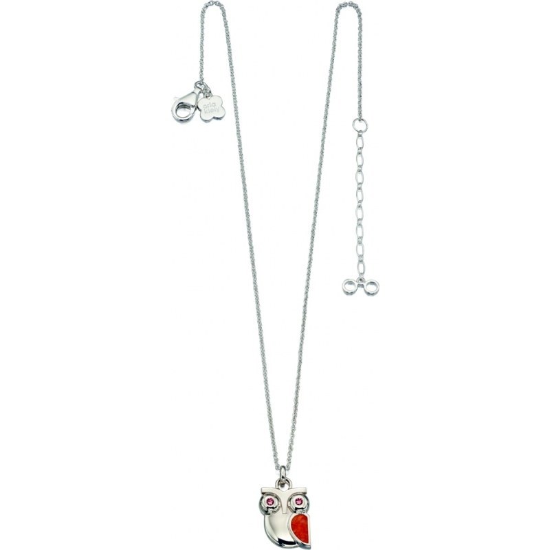Orla Kiely N4035 Ladies Sterling Silver Owl Necklace with Swarovski Details
