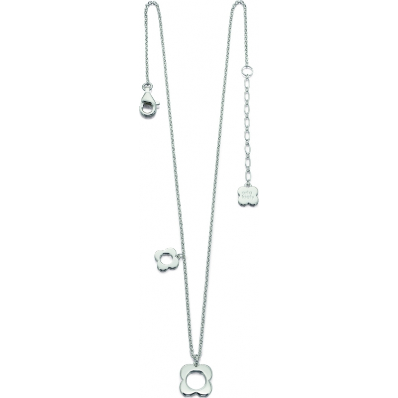 Orla Kiely N4041 Ladies Sterling Silver Four Point Flower Necklace