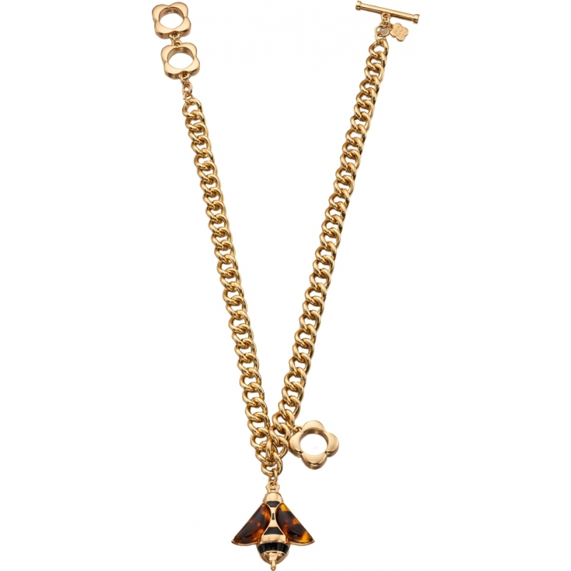 Orla Kiely N4059 Ladies Bee and Flower Necklace