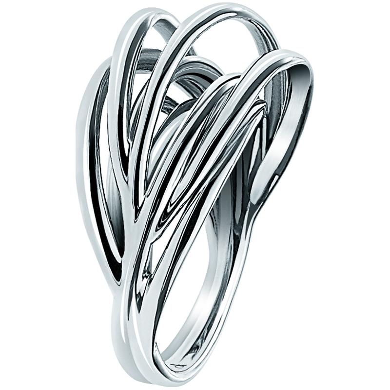kj1rmr000107 calvin klein ladies crisp silver plated ring. Black Bedroom Furniture Sets. Home Design Ideas