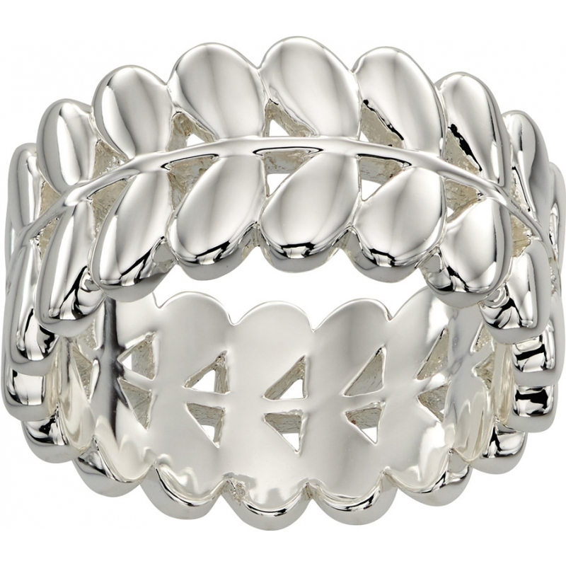 Orla Kiely R3468-52 Ladies Buddy Silver Stem Ring - Size L (52)