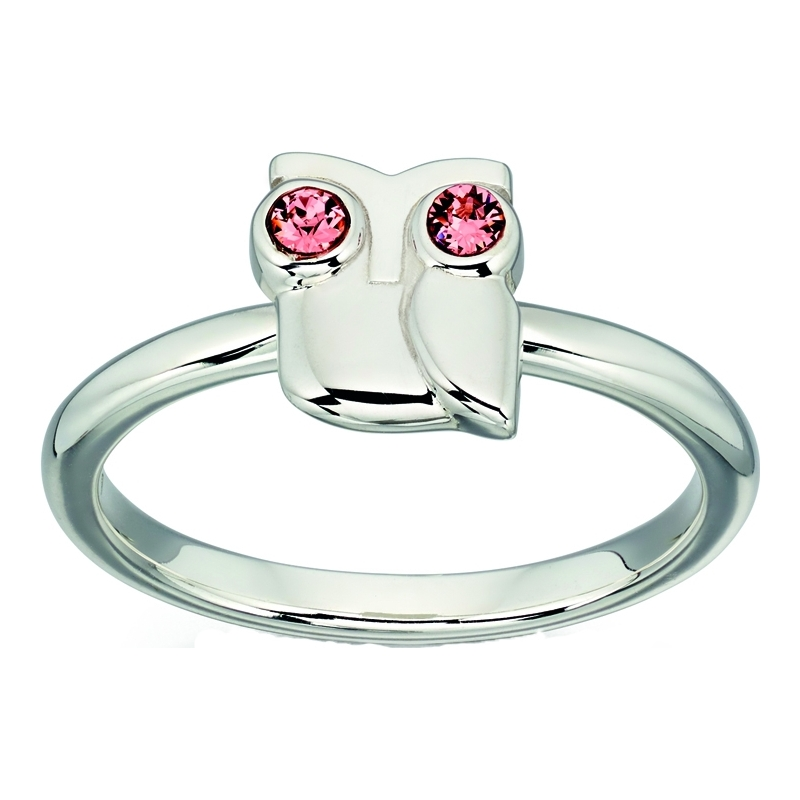 Orla Kiely R3494-52 Ladies Sterling Silver Owl Ring - Size L