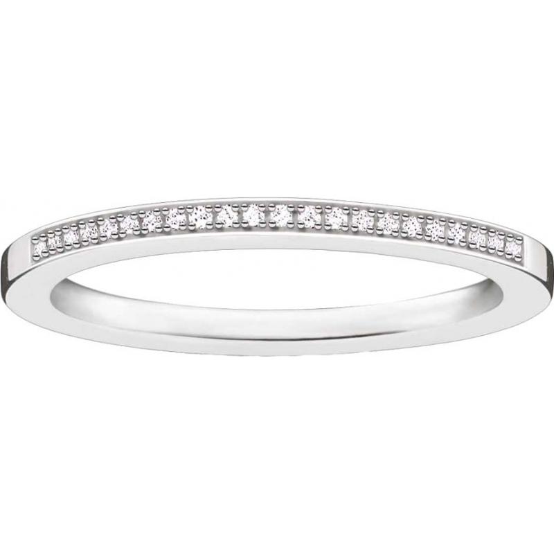 Thomas Sabo D-TR0006-725-14-52 Damas Glam y el alma de ley 925 anillo de diamantes de plata - M.5 tamaño (UE 52)