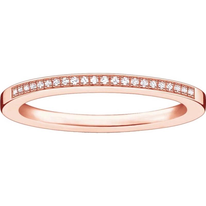Thomas Sabo D-TR0006-923-14-52 Las señoras glamour y alma chapado en oro rosa anillo de diamantes - M.5 tamaño (UE 52)