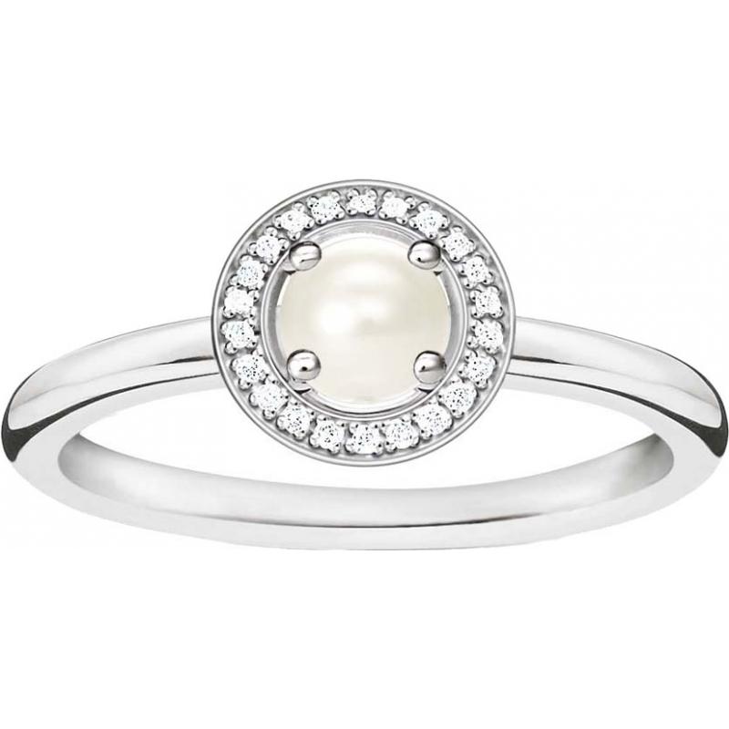 Thomas Sabo D-TR0007-765-14-52 Damas Glam y el alma de ley 925 anillo de diamantes de plata - M.5 tamaño (UE 52)