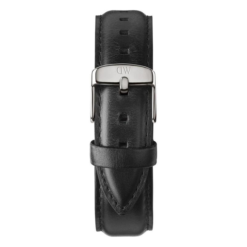 Daniel Wellington DW00200020 Heren Classic Sheffield 40mm zilver zwart lederen reserveonderdelen riem