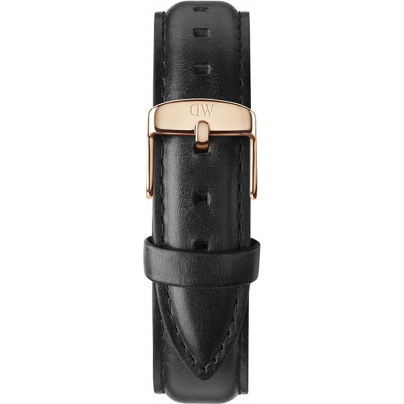 Daniel Wellington DW00200036 Dames klassieke Sheffield 36mm rose goud zwart lederen reserveonderdelen riem