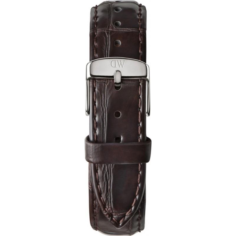 Daniel Wellington DW00200055 Ladies klassiske york 36mm sølv mørk brun læder reservedele rem