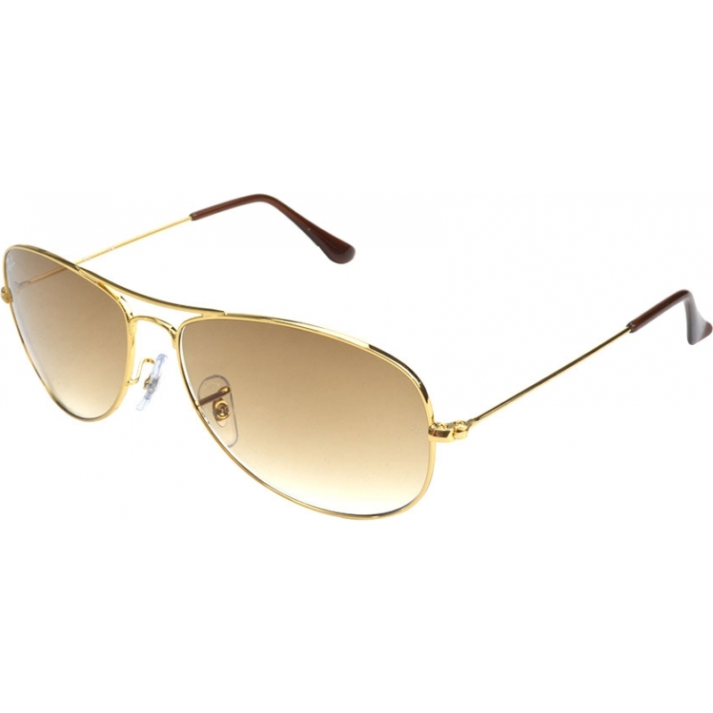 6ee9ab7d34d89 RayBan RB3362 56 Cockpit Gold Brown 001-51 Sunglasses