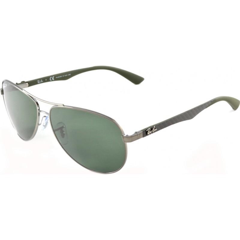 14c2894ebeb4 RayBan RB8313 58 Tech Carbon Fibre Gunmetal 004-N5 Polarized Sunglasses