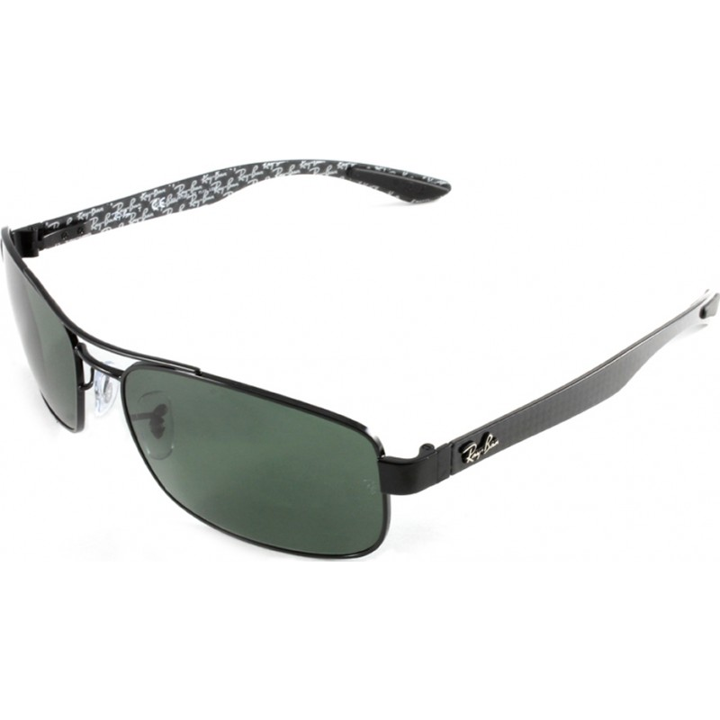 9199a33137e RayBan RB8316 62 Tech Carbon Fibre Black Green 002-N5 Polarized Sunglasses