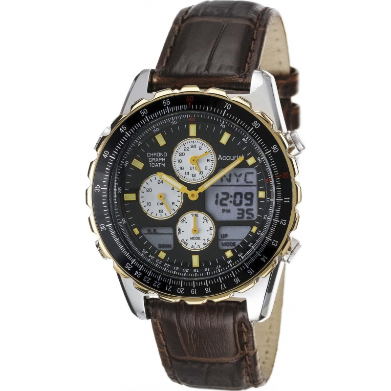 ms774b mens accurist watch watches2u accurist ms774b mens skymaster chronograph watch