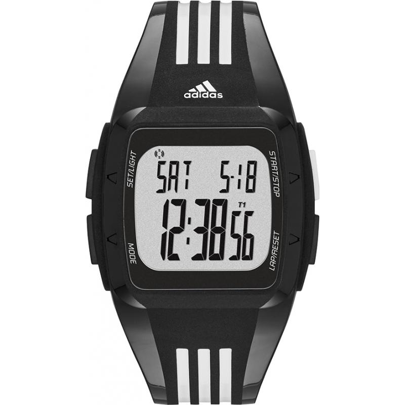 Adidas Performance ADP6093 Duramo Midsize White Black Digital Watch
