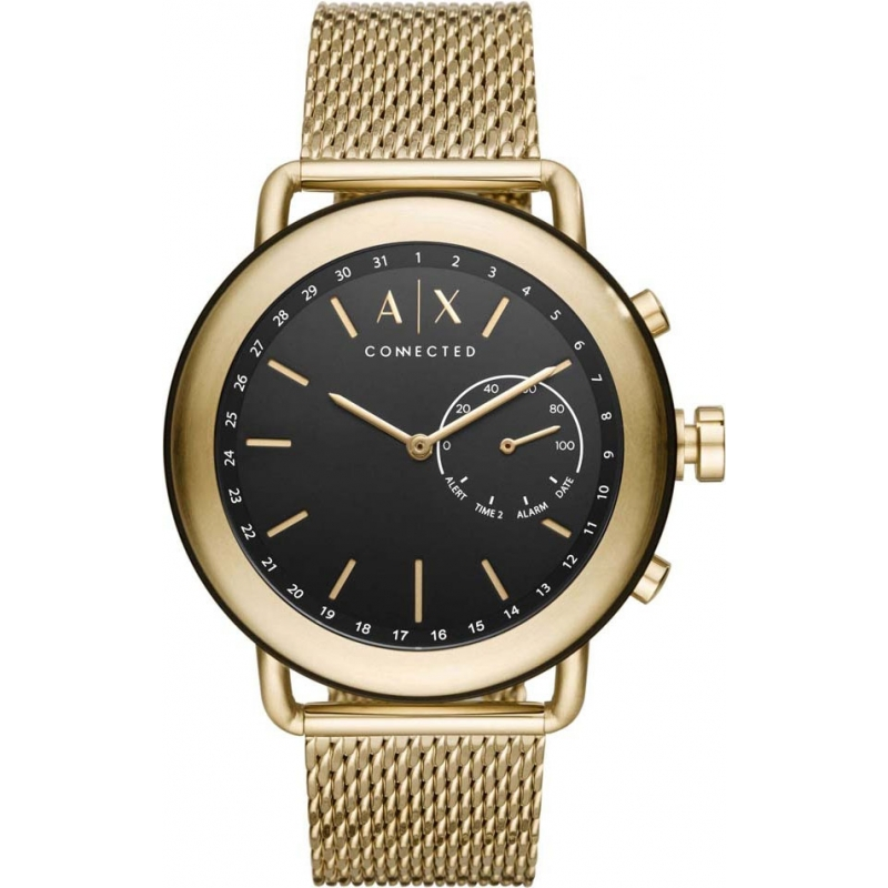 54f0a464c Gold Metal AXT1021 Armani Exchange Connected Smartwatch | Watches2U