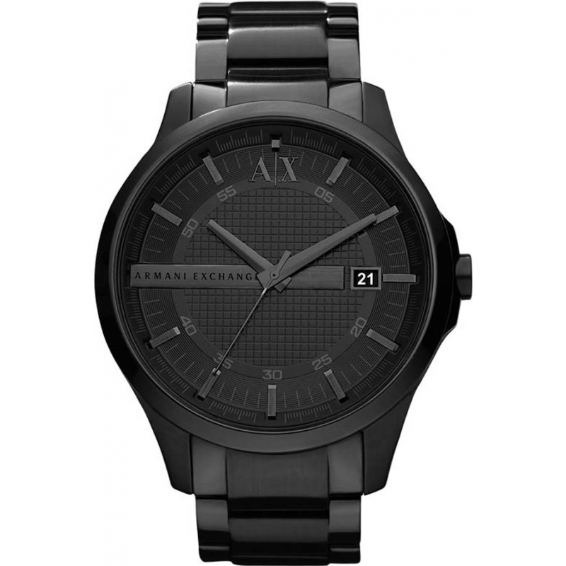 ax2104 armani exchange mens black ip bracelet dress watch armani exchange ax2104 mens black ip bracelet dress watch