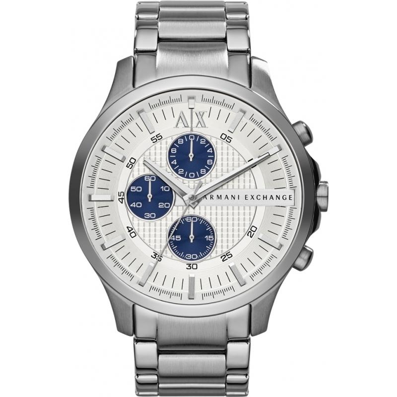 ax2136 mens armani exchange watch watches2u armani exchange ax2136 mens silver steel chronograph dress watch