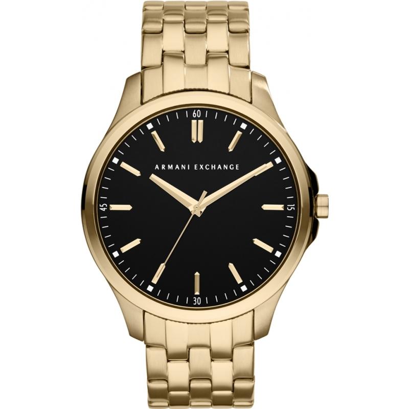 ax2145 armani exchange mens black gold plated bracelet dress watch armani exchange ax2145 mens black gold plated bracelet dress watch