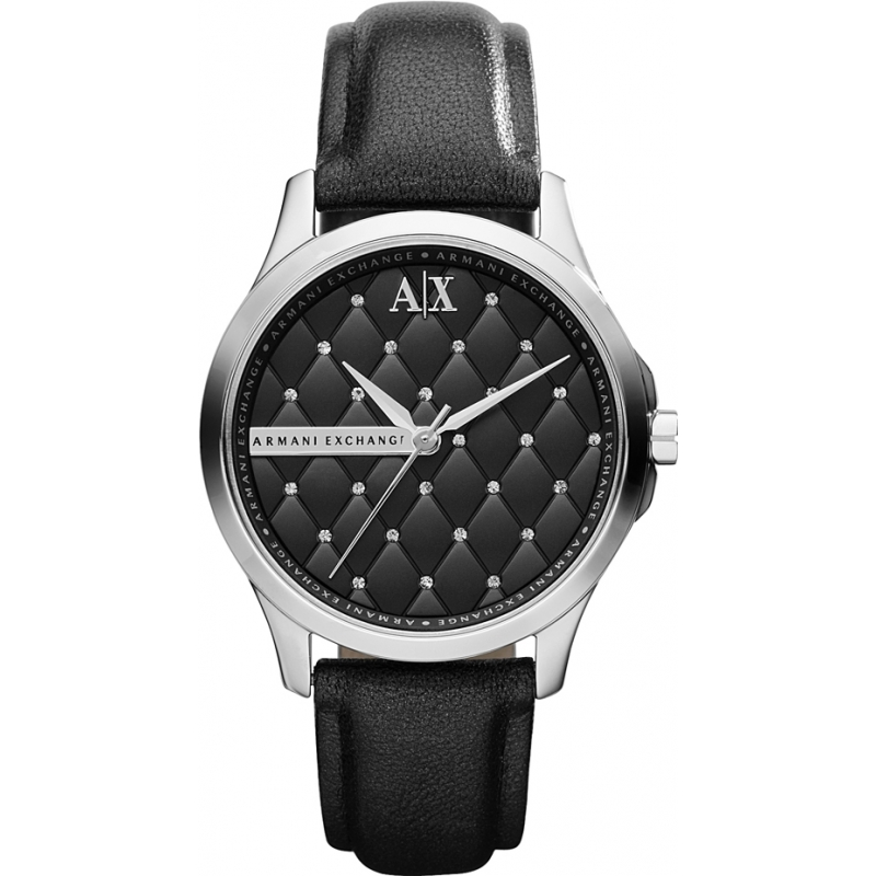 Armani Exchange AX5204 Ladies Black Leather Strap Dress Watch