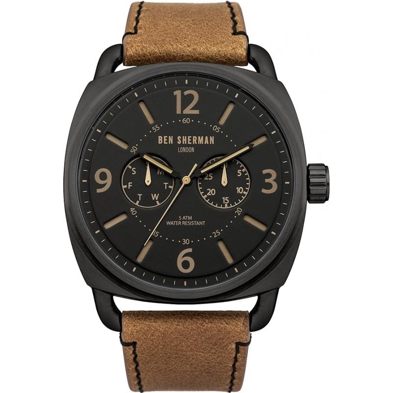 Wb006br mens ben sherman watch watches2u for Black tan watch