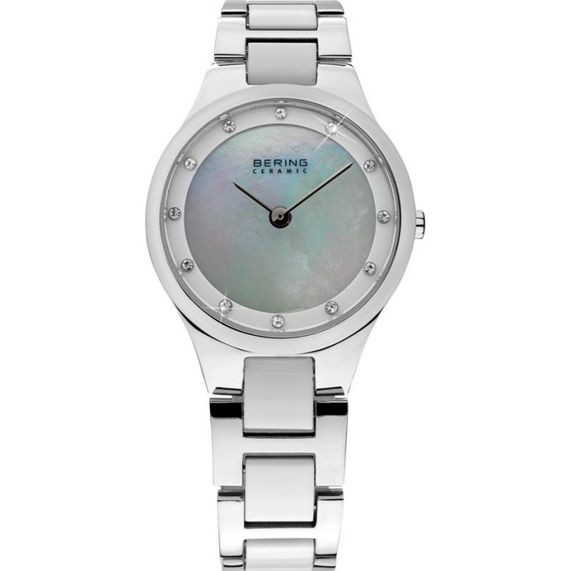 Bering Time 32327-701 Ladies Ceramic Silver Watch