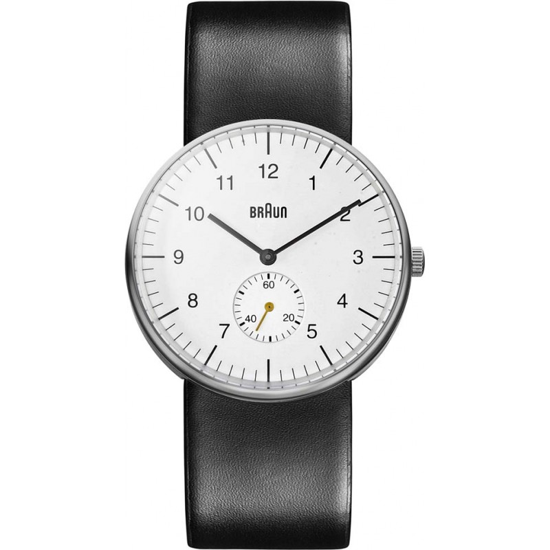 Braun Watches BN0024WHBKG Mens White Steel Black Watch